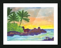 Tropical island in the ocean Picture Frame print