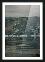 Le fjord du Saguenay en hiver Impression et Cadre photo