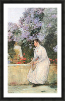 In the garden by Hassam Picture Frame print