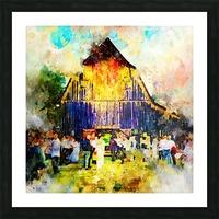 Jackson Hole Barn Picture Frame print