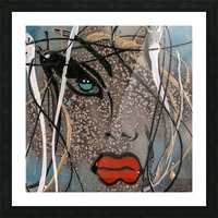 3094 - OD steal bleu Picture Frame print