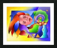 Fasettonia - colourful spirit Picture Frame print