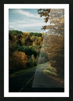 Route dautomne Impression et Cadre photo