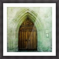 ZURICH CATHEDRAL DOOR Picture Frame print