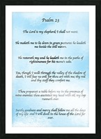 Psalm 23 Clouds Picture Frame print