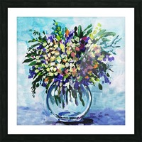 Impressionistic Flowers Burst Of Beauty Picture Frame print