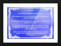 Psalm 23 9BL Picture Frame print
