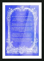 Psalm 23 7BL Picture Frame print