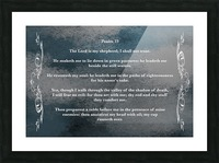 Psalm 23 4CH Picture Frame print