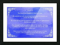Psalm 23 5BL Picture Frame print