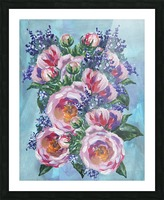 Beautiful Impressionistic Flowers Picture Frame print