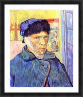 Self-Portrait with cut ear -2- by Van Gogh Picture Frame print