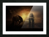 knight with light Picture Frame print