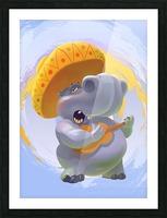 Hippopotamus mariachi Picture Frame print