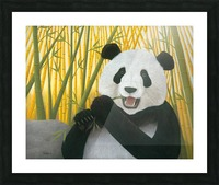 P is for Panda Picture Frame print
