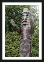 Totem pole of Granville Island 2 Picture Frame print