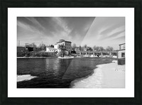 Almonte Spring 1 b&w Picture Frame print