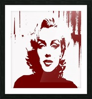 Sadness of Marilyn Monroe Picture Frame print