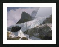 Athabaska Glacier Digital Painting 52 70 200px Picture Frame print
