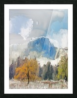 Half Dome from Meadow Digital Painting 52 70 200px Picture Frame print