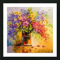 A bouquet of wild flowers Picture Frame print