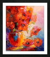 A bouquet of poppies Picture Frame print