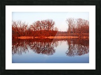 Spring Sunset Glow I Picture Frame print