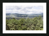 A view of Okanagan Lake and part of Kelowna from near the top of Mission Hill Road 3 Picture Frame print