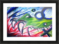 Paint Monster Picture Frame print