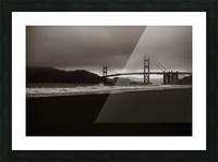 B&W Golden Gate Impression et Cadre photo