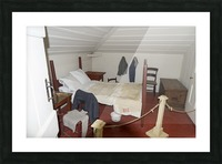 Bedroom in the Lightkeepers House 2 Picture Frame print