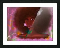 Afro Latina Picture Frame print
