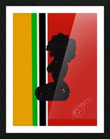 Afrocentric Woman Silhouette- African Flag Picture Frame print