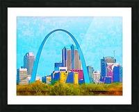 Saint Louis Arch Picture Frame print