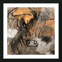 3754    gold bull Picture Frame print