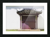 Asian Style Door and Portico Picture Frame print