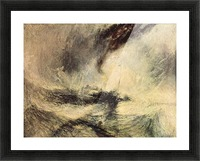 Steamboat signalling by Joseph Mallord Turner Picture Frame print
