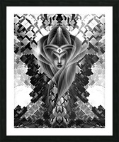Mistress Of The Cuboid BW Picture Frame print
