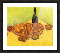 Still Life with Bottle, Lemons and Oranges by Van Gogh Picture Frame print