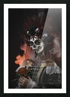 Young girl in the image of Santa Muerte Picture Frame print