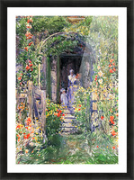 Isles of Shoals Garden by Hassam Picture Frame print