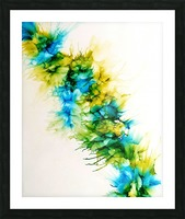 Blue Hawaii Picture Frame print