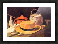 Still Life with Pipe and Straw Hat by Van Gogh Picture Frame print