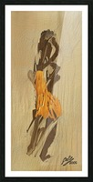 Yellow dress Picture Frame print