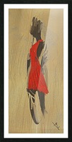 Red dress Picture Frame print
