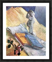 Still Life with torso, a rose and two novels by Van Gogh Picture Frame print