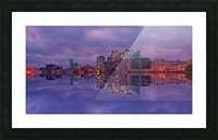LON 009 Canary Wharf Reflection  Picture Frame print