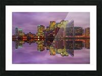 LON 008 Canary Wharf Reflection  Picture Frame print
