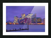 LON 007 Canary Wharf  Picture Frame print