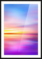 Abstract Sunset VII Picture Frame print